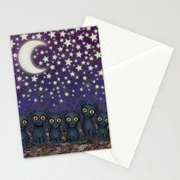 black cats, stars, & moon Stationery Cards