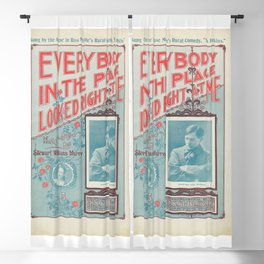 Vintage Musical Poster Blackout Curtain