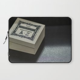 Alphabetical Rubber Stamp Laptop Sleeve