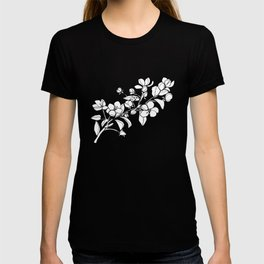 Apple Blossoms, A Continuous Line Drawing T-shirt