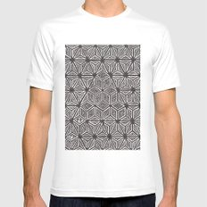 Textile 7  Mens Fitted Tee MEDIUM White