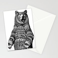 Ornate Grizzly Bear Stationery Cards