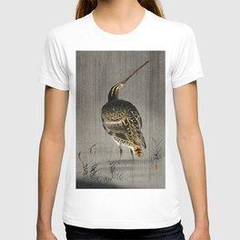 Ohara Koson, Snipe Fishing - Japanese Vintage Woodblock Print T-shirt