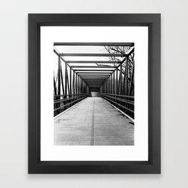 Bridge to Nowhere Black and White Photography Framed Art Print