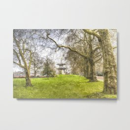 The Pagoda Battersea Park London Art Metal Print