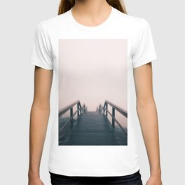 Wooden Stairway With Fog T-shirt