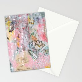 Mariposa Rosa Stationery Cards
