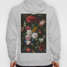 """Abraham Mignon """"Still life with flowers in a glass vase"""" Hoody"""