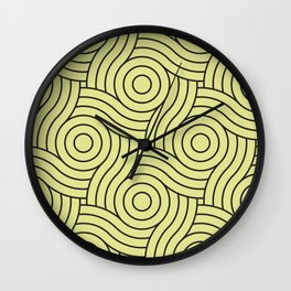 Circle Swirl Pattern VA Lime Green - Lime Mousse - Bright Cactus Green - Celery Wall Clock