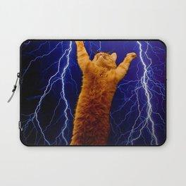 cat Thunders lighting space universe galaxy Laptop Sleeve