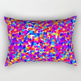 Colorful Dots Mayhem Rectangular Pillow