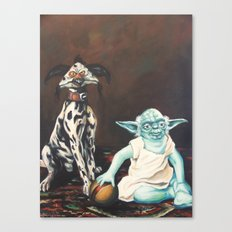 Yoda and a Salacious Dalmation  Canvas Print