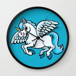 unicorn with wings Wall Clock