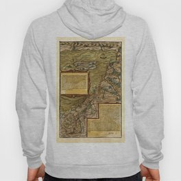 Map Of The Holy Land 1544 Hoody
