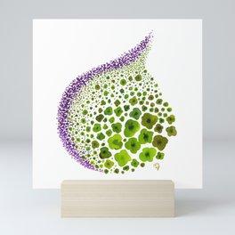 Paths of Color [green & purple] Mini Art Print