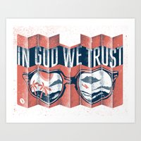 florida Art Prints featuring Florida by Two Arms