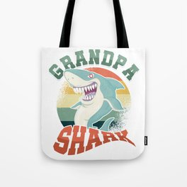 Aquatic Creature Fish Marine Life Gift Grandpa Shark Doo Doo Grandfather Tote Bag