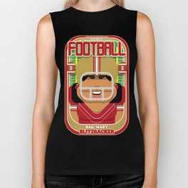American Football Red and Gold - Hail-Mary Blitzsacker - Indie version Biker Tank