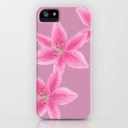 Lilies circle of trust - pink iPhone Case