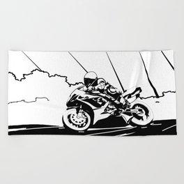 Motorcycle Race Beach Towel