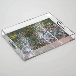 White Trees Acrylic Tray