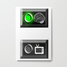 """Brain ON"" Metal Print"
