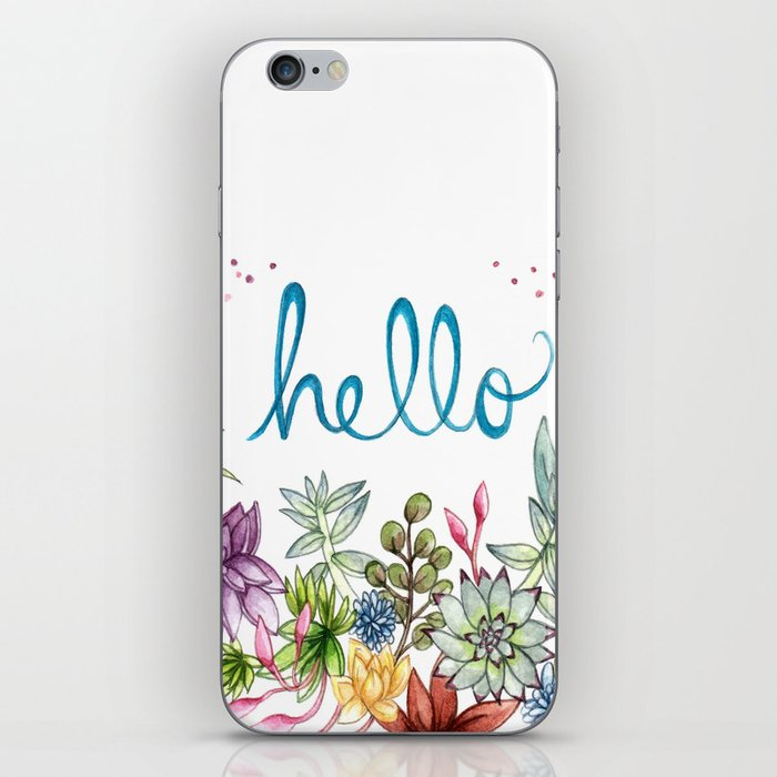 hello spring iPhone Skin