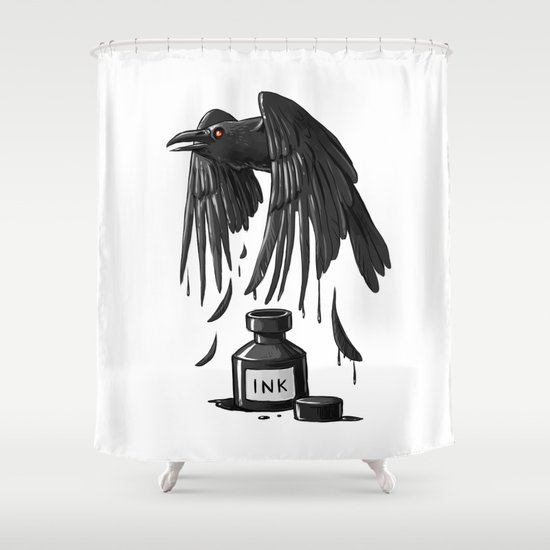 Ink Raven Shower Curtain