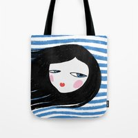 marina Tote Bags featuring Marina by Mimology