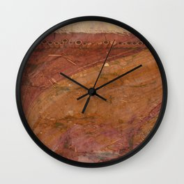 Dirty Rose Gold with Piping on Top Wall Clock