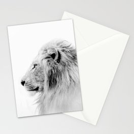 Lion Print, Animal Prints, Black & White Photography Stationery Cards