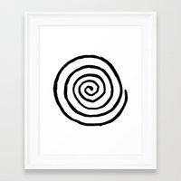fibonacci Framed Art Prints featuring Fibonacci by Geryes