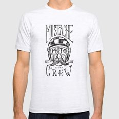 Mustache Moto Crew Ash Grey Mens Fitted Tee SMALL