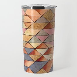 Triangles Circles Golden Sun Travel Mug