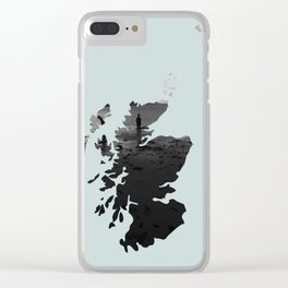 'Wandering' Scotland map Clear iPhone Case