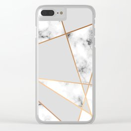 Copper smokey marble geo Clear iPhone Case