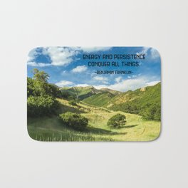 Energy And Persistence Conquer All Things Bath Mat