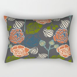 Gardenia Dark Rectangular Pillow
