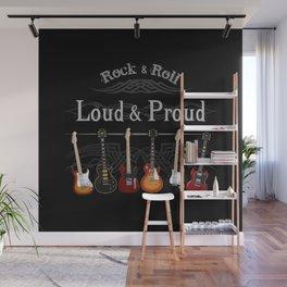Loud and Proud Guitars Wall Mural