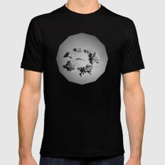 Paper Frogs Celebrate Victory over the Tyranny of Fire Black Mens Fitted Tee MEDIUM