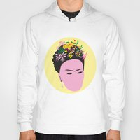 frida Hoodies featuring Frida by Emmanuelle Ly