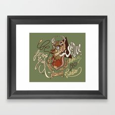 Oh my Deer (be unique and forever young like a 1960 radio) Framed Art Print