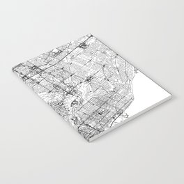 Toronto White Map Notebook
