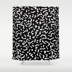 Retro Themed Repeated Pattern Design Shower Curtain