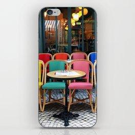 Parisian cafe iPhone Skin