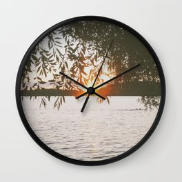 Evening at the Lake Wall Clock