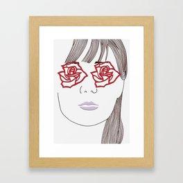 Rose Eyes Framed Art Print