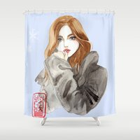arabic Shower Curtains featuring arabic beauty  by pidam92