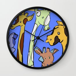 Accepting Giraffes Wall Clock