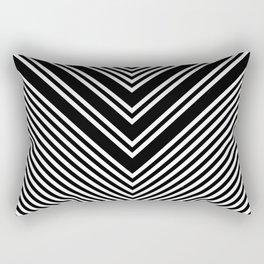 Back and White Lines Minimal Pattern No.1 Rectangular Pillow